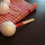 boule de polystyrène et bâton