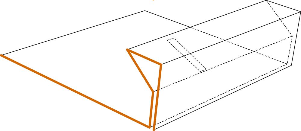 schéma pour plier la partie étiquette de la boîte