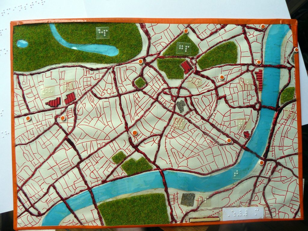carte tactile de Londres