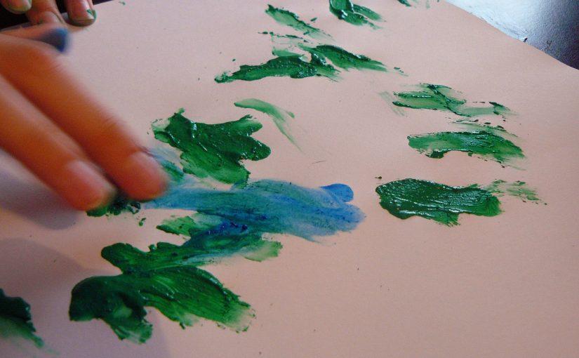 peinture sensitive au doigt