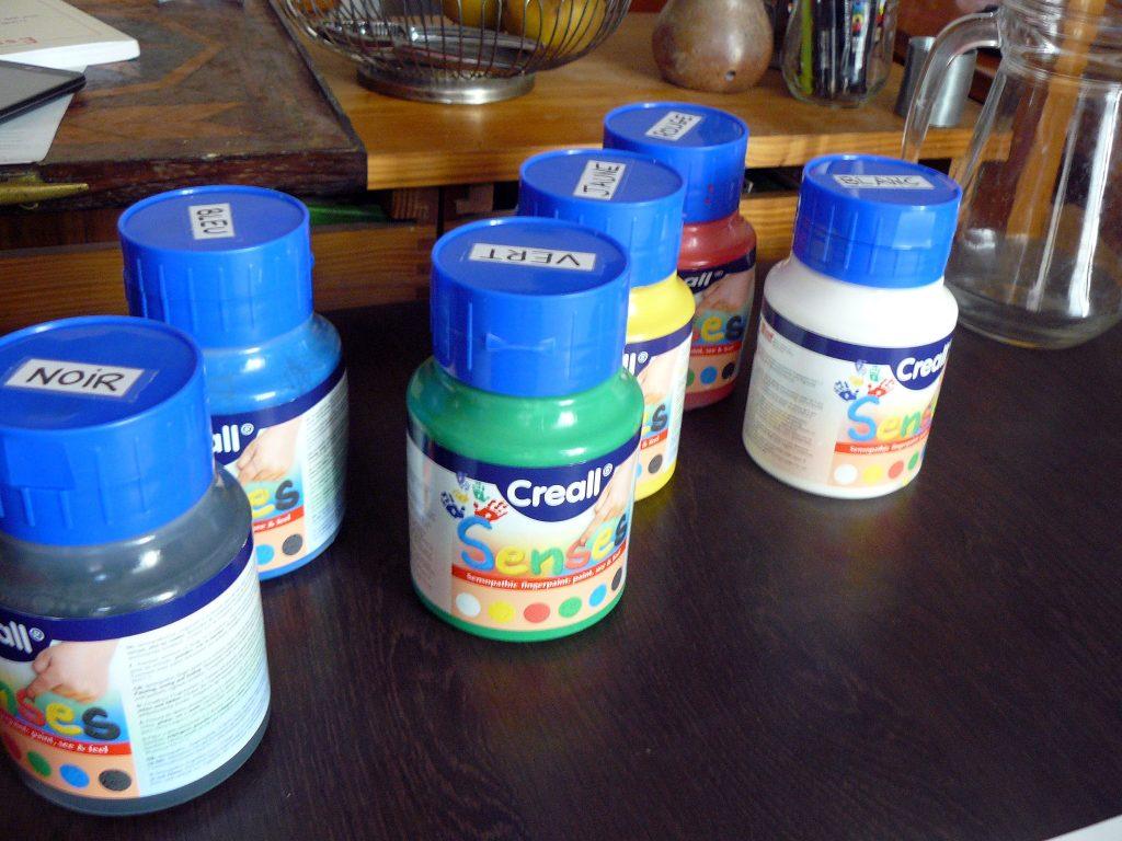 6 pots de peinture sensitive Creall
