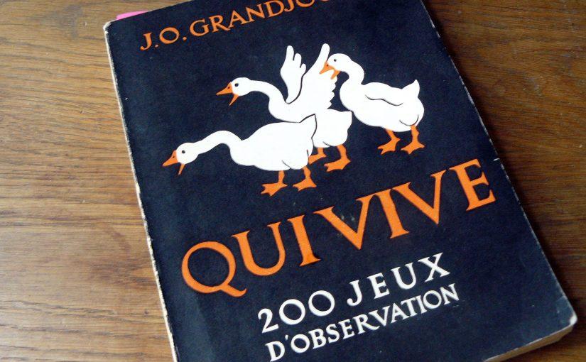 Couverture du livre Qui vive - 200 jeux d'observation